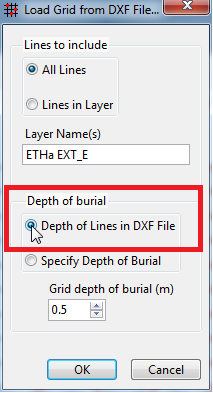 Depth of Lines in DXF File