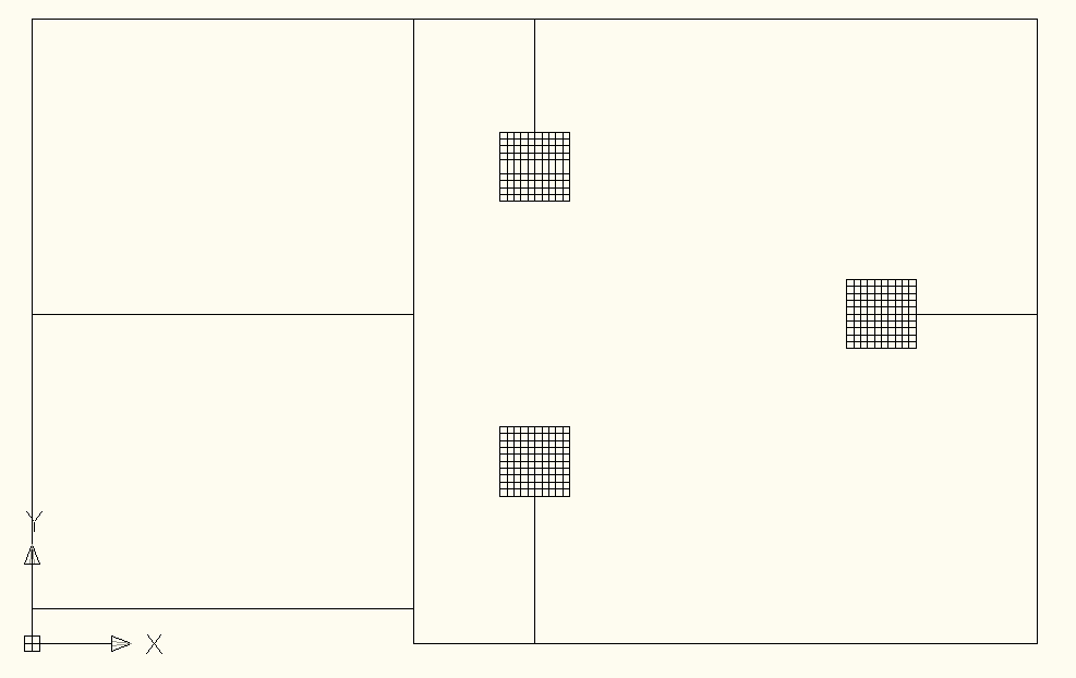 Figure 2. Model of earth grid drawn in CAD and saved as DXF file for importing into SafeGrid.