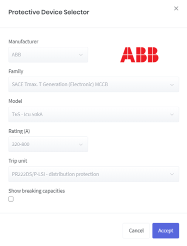 Protective Device Selector Software